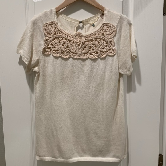 Anthropologie Knitted & Knotted Top - Size Medium